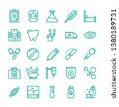 medical icon set with outline... | Shutterstock .eps vector #1380189731