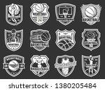 basketball team badges ... | Shutterstock .eps vector #1380205484