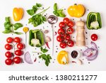 variety of fresh vegetables ... | Shutterstock . vector #1380211277