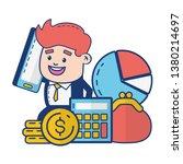 people online banking | Shutterstock .eps vector #1380214697