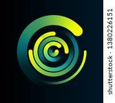 circular network data... | Shutterstock .eps vector #1380226151