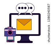 social media icons   Shutterstock .eps vector #1380240587