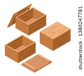 a set of wooden boxes with lids ... | Shutterstock .eps vector #1380247781