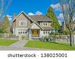 big custom made luxury house...   Shutterstock . vector #138025001