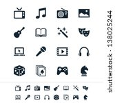 entertainment icons | Shutterstock .eps vector #138025244