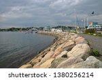 sea bay with stony shore in... | Shutterstock . vector #1380256214