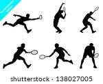 Set Of Vector Tennis Player...