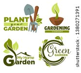 Green Garden Isolated Icons...