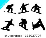 set of snowboard vector... | Shutterstock .eps vector #138027707