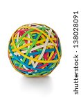 ball made from colored rubber... | Shutterstock . vector #138028091