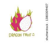 dragon fruit doodle vector... | Shutterstock .eps vector #1380309407