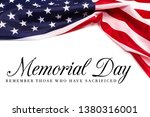 Text memorial day on american...