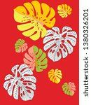 vector tropical pattern with... | Shutterstock .eps vector #1380326201