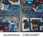 aerial top view of city asphalt ...   Shutterstock . vector #1380326807