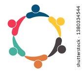 meeting teamwork room people... | Shutterstock .eps vector #1380334544