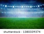 soccer stadium with... | Shutterstock . vector #1380339374