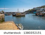fishing boats lie in the harbor ...   Shutterstock . vector #1380352151