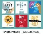 set of sales advertising design ... | Shutterstock .eps vector #1380364031