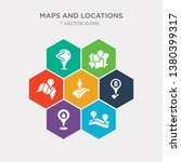 simple set of gps location ... | Shutterstock .eps vector #1380399317