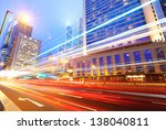 traffic at night in hong kong | Shutterstock . vector #138040811