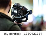 video shooting with camera | Shutterstock . vector #1380421394