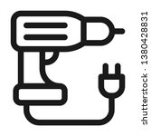 drill tool icon. line style | Shutterstock .eps vector #1380428831