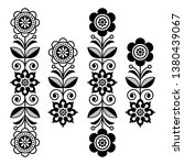 retro monochrome floral design... | Shutterstock .eps vector #1380439067