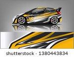 car decal wrap design vector.... | Shutterstock .eps vector #1380443834