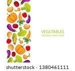 vegetables organic farm food... | Shutterstock .eps vector #1380461111