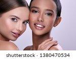 two pretty girls smiling | Shutterstock . vector #1380470534