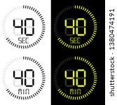 chronometer, Stopwatch digital, vector