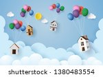 business concept paper house... | Shutterstock .eps vector #1380483554