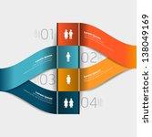 modern style step banner  ... | Shutterstock .eps vector #138049169