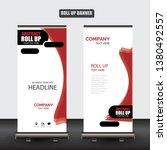 roll up business brochure flyer ... | Shutterstock .eps vector #1380492557