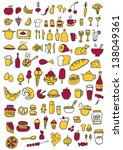 food icons | Shutterstock .eps vector #138049361