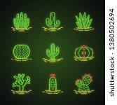 wild cactuses in ground neon... | Shutterstock .eps vector #1380502694