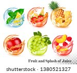 Set Of Mint And Fruit In A...
