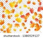 maple leaves vector  autumn... | Shutterstock .eps vector #1380529127