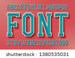 geometric vector font with... | Shutterstock .eps vector #1380535031