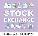 stock exchange word concepts...