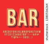 bar 3d vintage vector lettering.... | Shutterstock .eps vector #1380536264