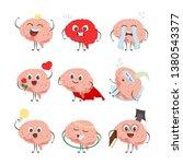 brain cartoon characters making ... | Shutterstock .eps vector #1380543377