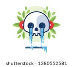 crying skull vector illustration | Shutterstock .eps vector #1380552581