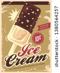 ice cream promotional retro... | Shutterstock .eps vector #1380564257