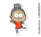 distressed sticker of a cartoon ... | Shutterstock . vector #1380580094
