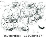 abstract ink design. modern... | Shutterstock . vector #1380584687