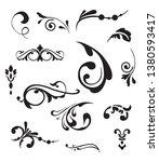 set  of vintage elements.... | Shutterstock . vector #1380593417