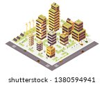 eco city isometric color vector ... | Shutterstock .eps vector #1380594941
