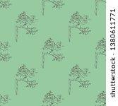 seamless geometrical monochrome ... | Shutterstock .eps vector #1380611771