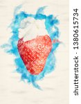 close up of strawberry with... | Shutterstock . vector #1380615734